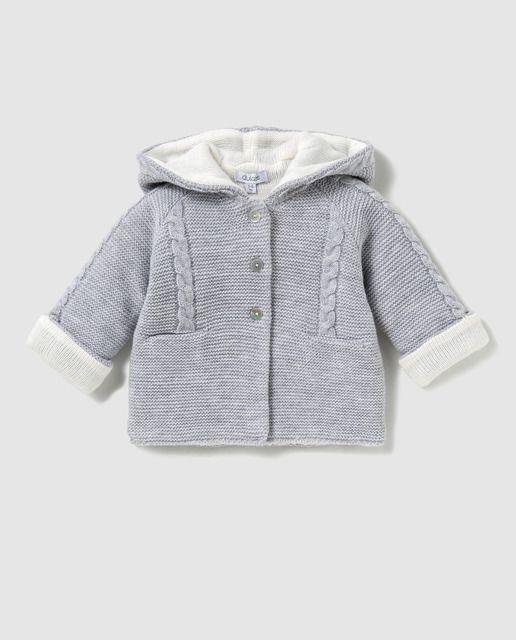 774612056 Chaleco de tricot de bebé niño Bass 10 en azul