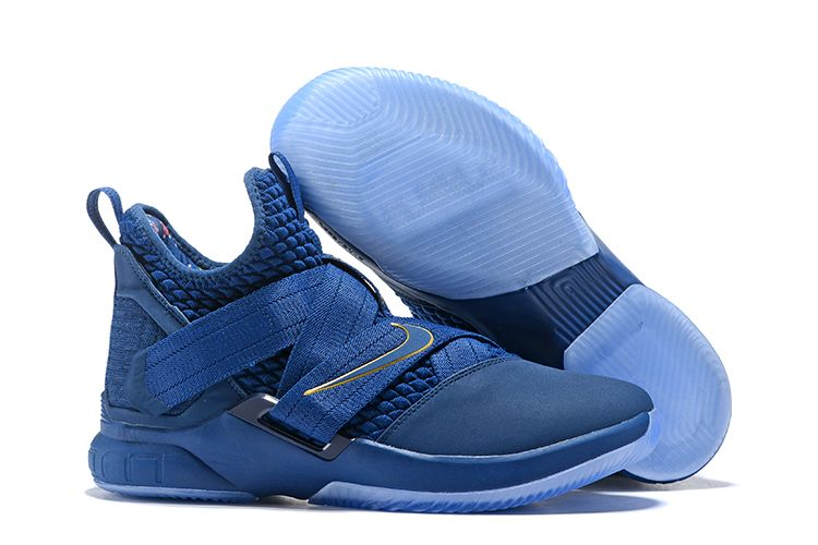 "453be7a651f Nike LeBron Soldier 12 ""Agimat"" Blue Gold AO4054-500"
