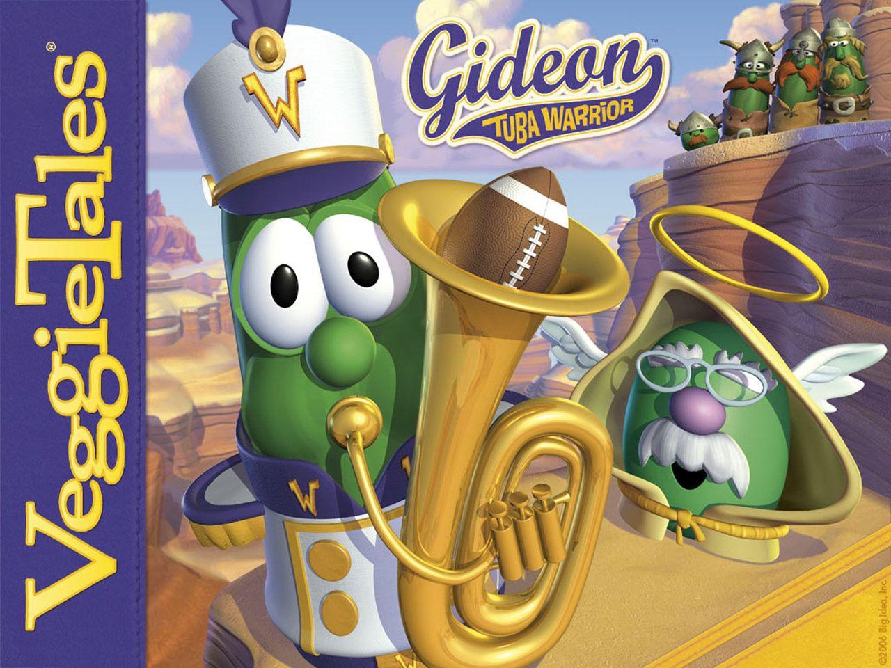 Gideon tuba warrior veggietales sing along songs tuba
