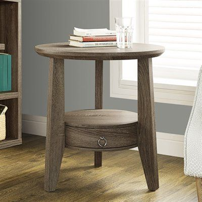 Exceptionnel Monarch Specialties End Table I 249 23 In Round Single Drawer Accent Table