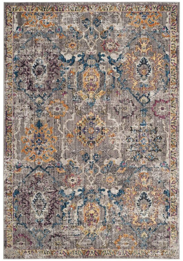 Safavieh Bristol Gray And Blue 10 X 14 Sisal Weave Area Rug Floral Rug Blue Grey Rug Area Rugs