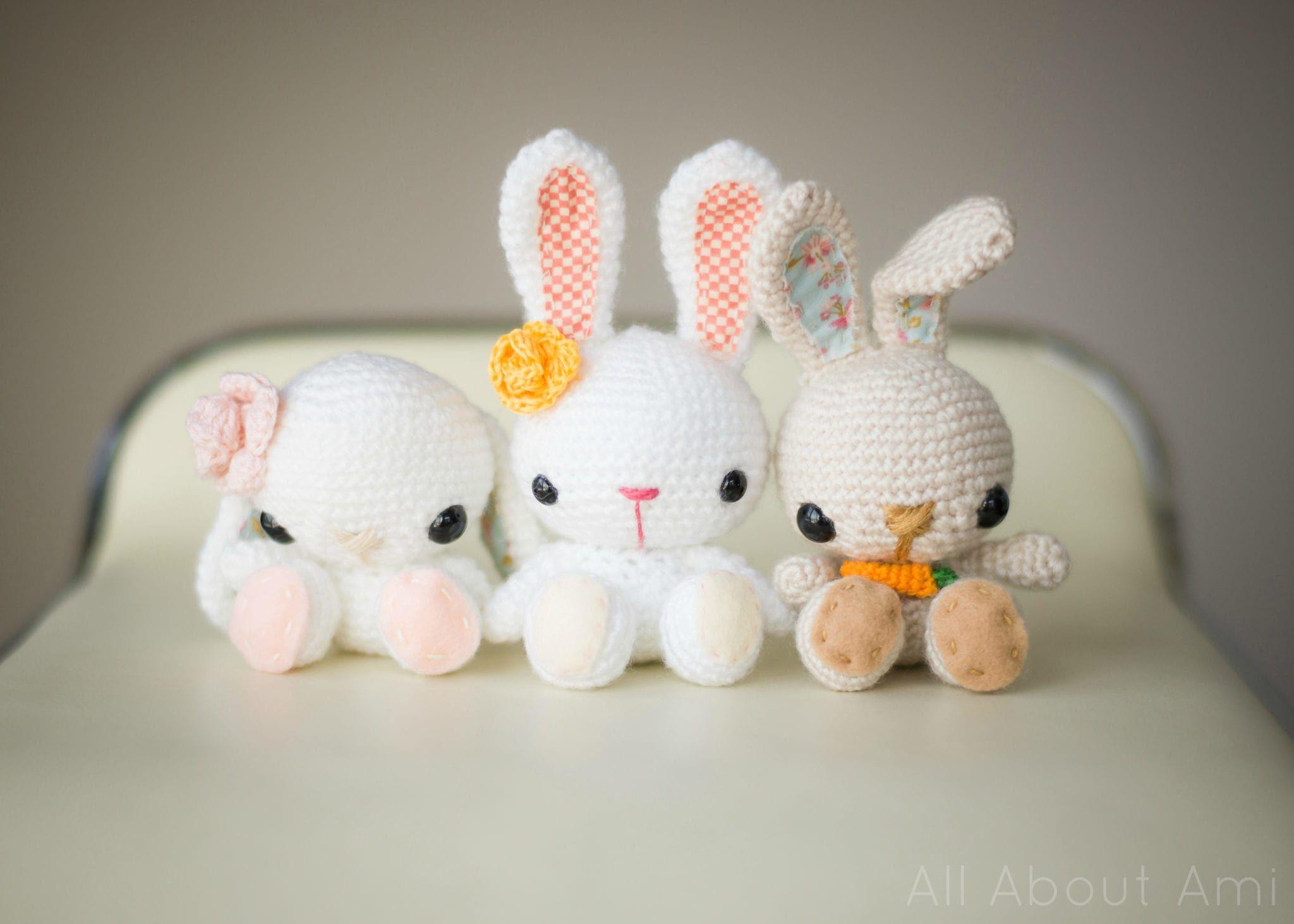 crochet spring bunnies 1 | Håndarbeid | Pinterest | Conejo ...