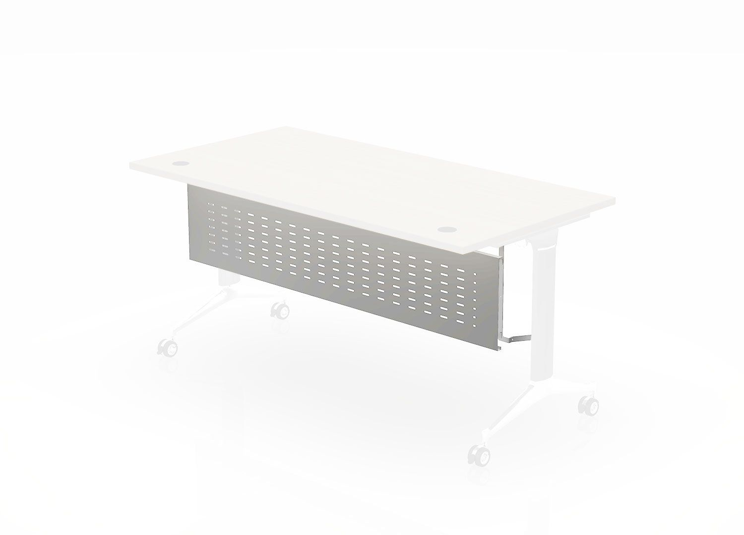 Photo of Modesty Panel (For Training Tables) – 72 Wide / Silver