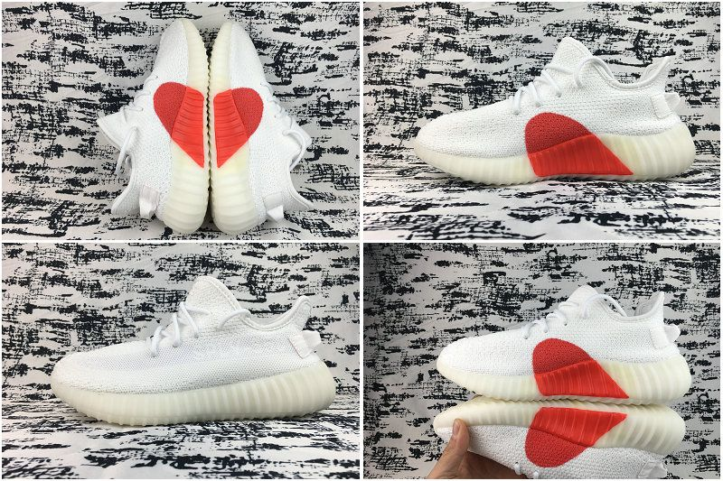 Real Adidas Yeezy 350 V2 Valentines Day