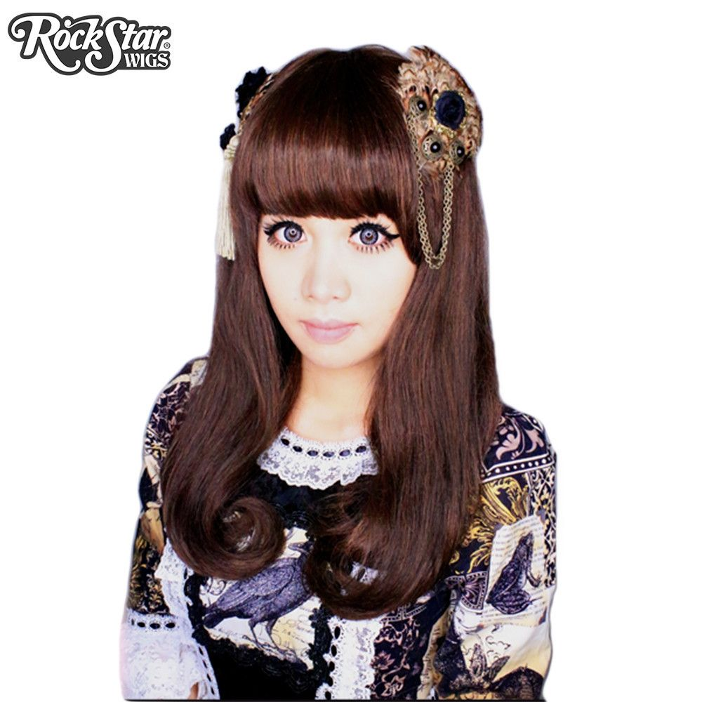 Gothic Lolita Wigs Straight Classic Collection Dark Brown Mix