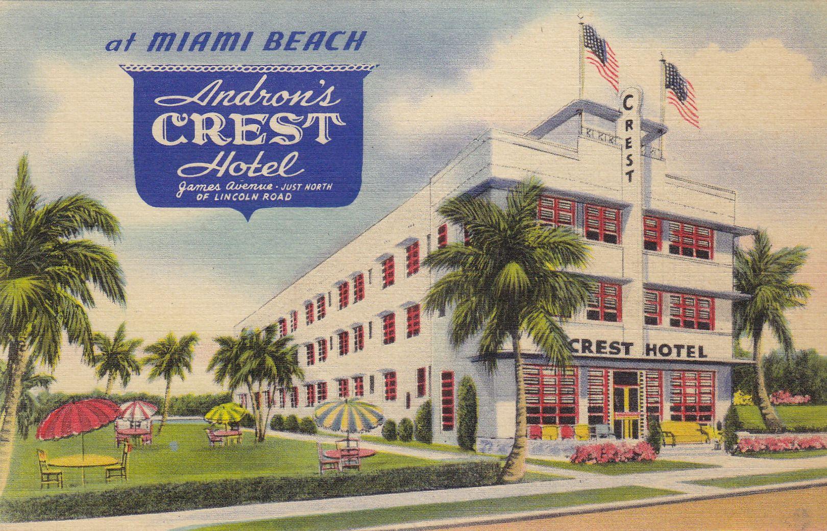 Andron S Crest Hotel Miami Beach Fl