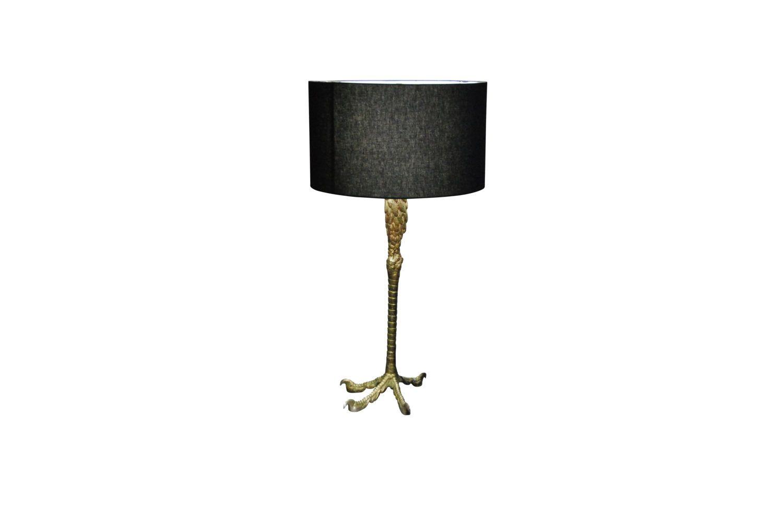 Ostrich Leg Lamp 1940 S With Custom Black Shade Katz Modern Leg Lamp Lamp Shades Of Black
