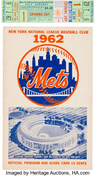 Baseball CollectiblesOthers 1962 New York Mets Opening