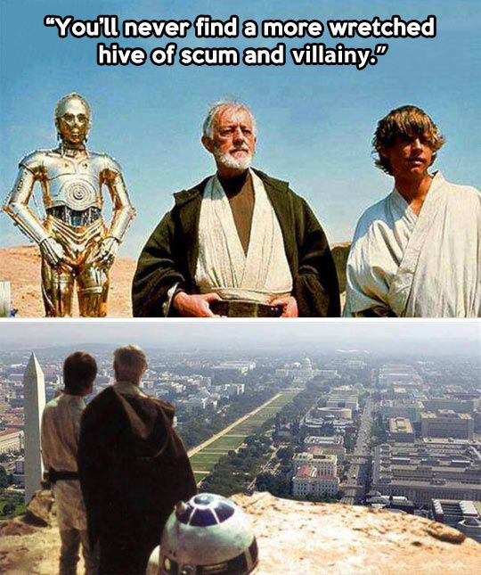 A Hive Of Scum And Villainy Funny Star Wars Pictures Star Wars Humor Star Wars Pictures