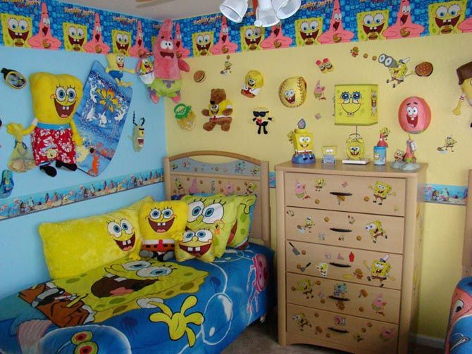 spongebob bedroom decor cool children bedroom interior design spongebob squarepants themes - Interior Design Kids Bedroom