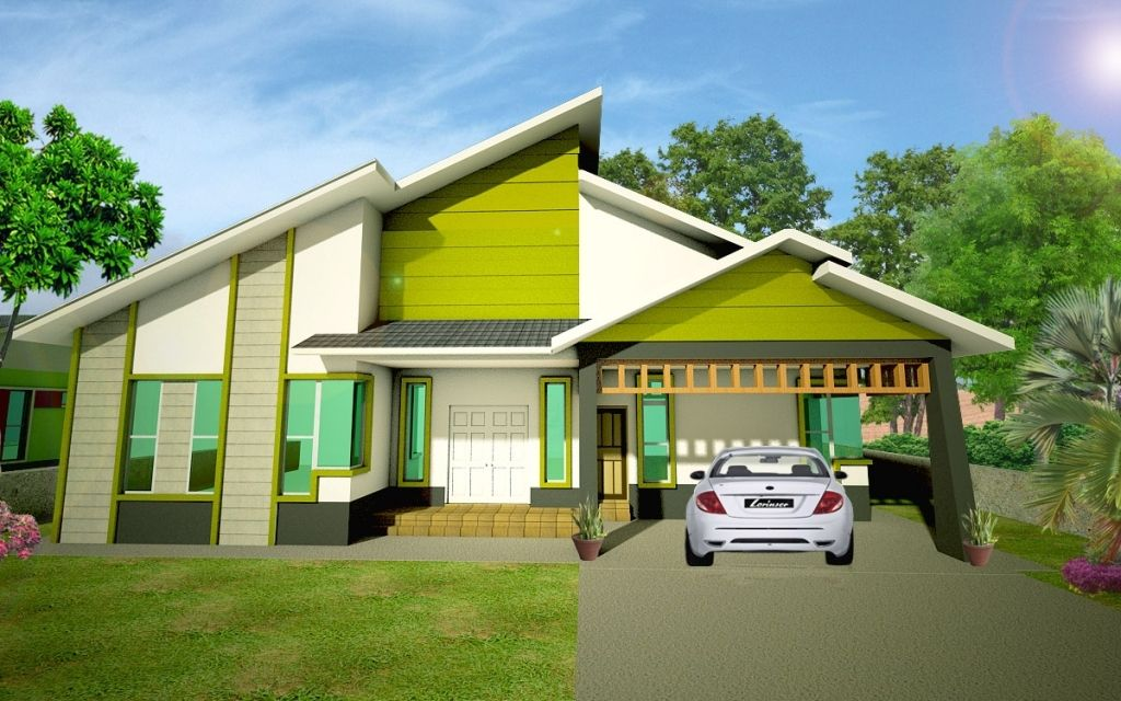 Reka Bentuk Rumah Banglo Moden With