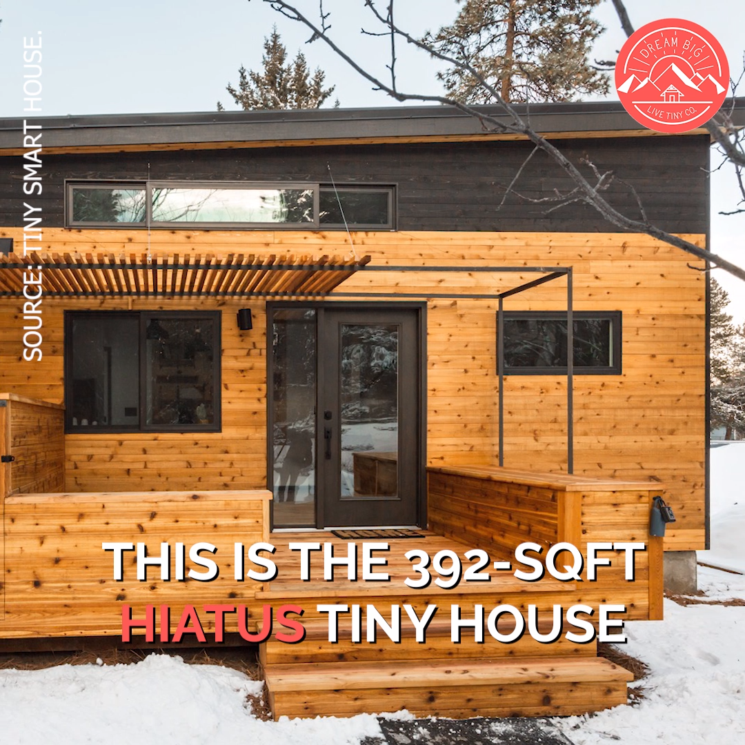 392-sqft Hiatus Foundation Tiny House! #tinyhomes