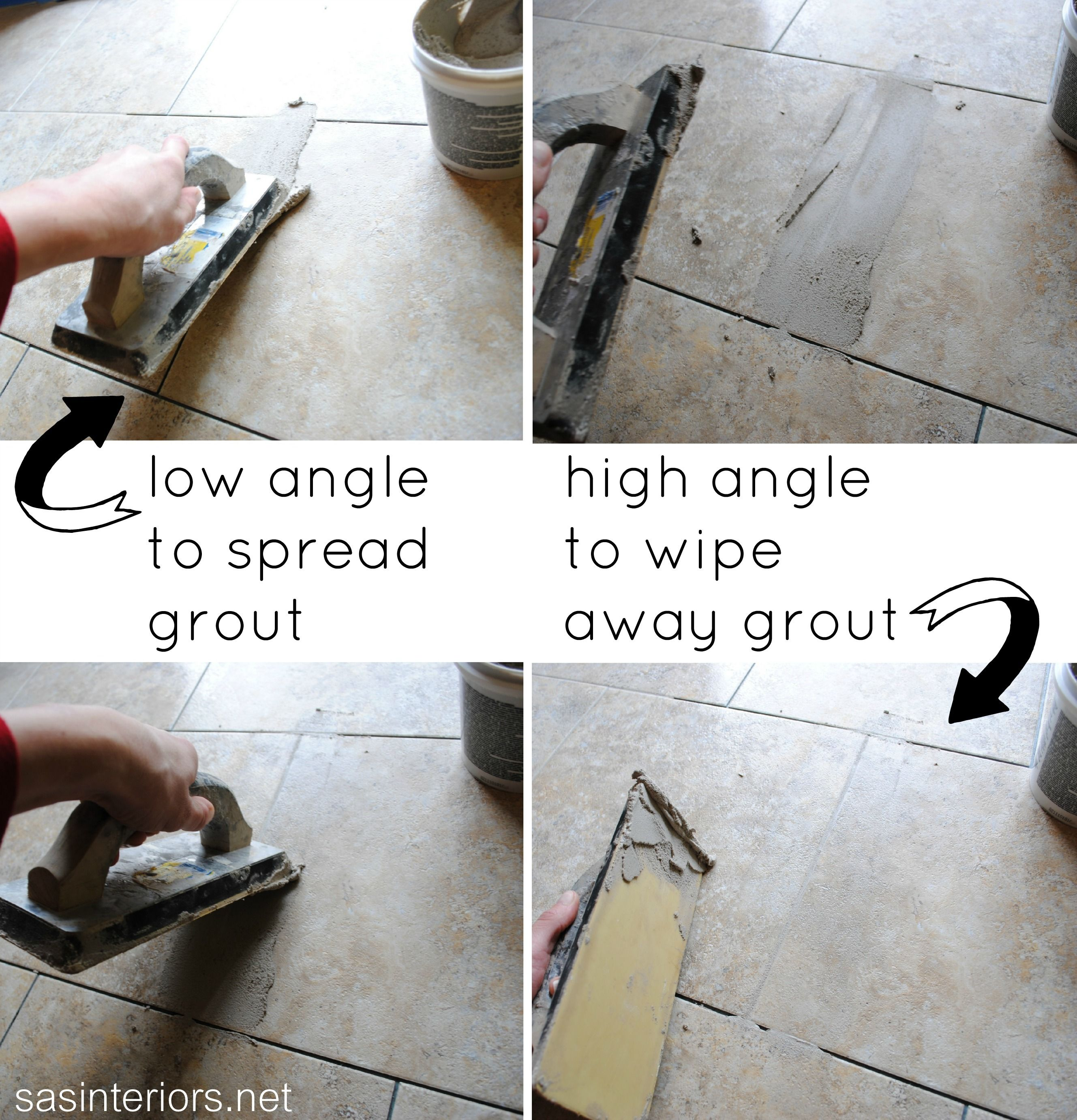Do it yourself how to install and grout luxury vinyl tile it looks how to install ceramic tile over vinyl flooring dailygadgetfo Gallery