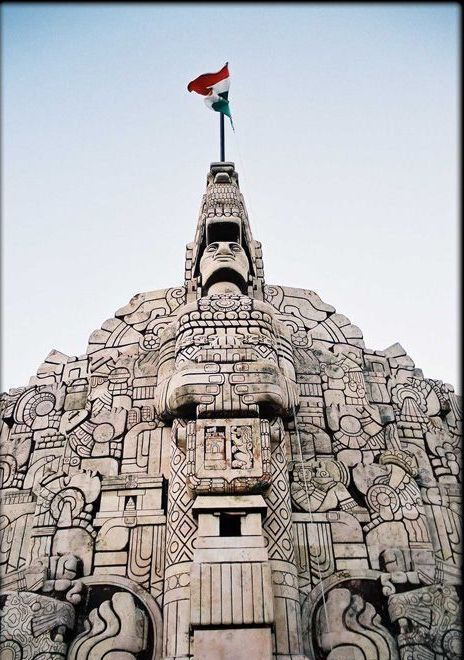 Monument to the Mayans in Merida -Mexico