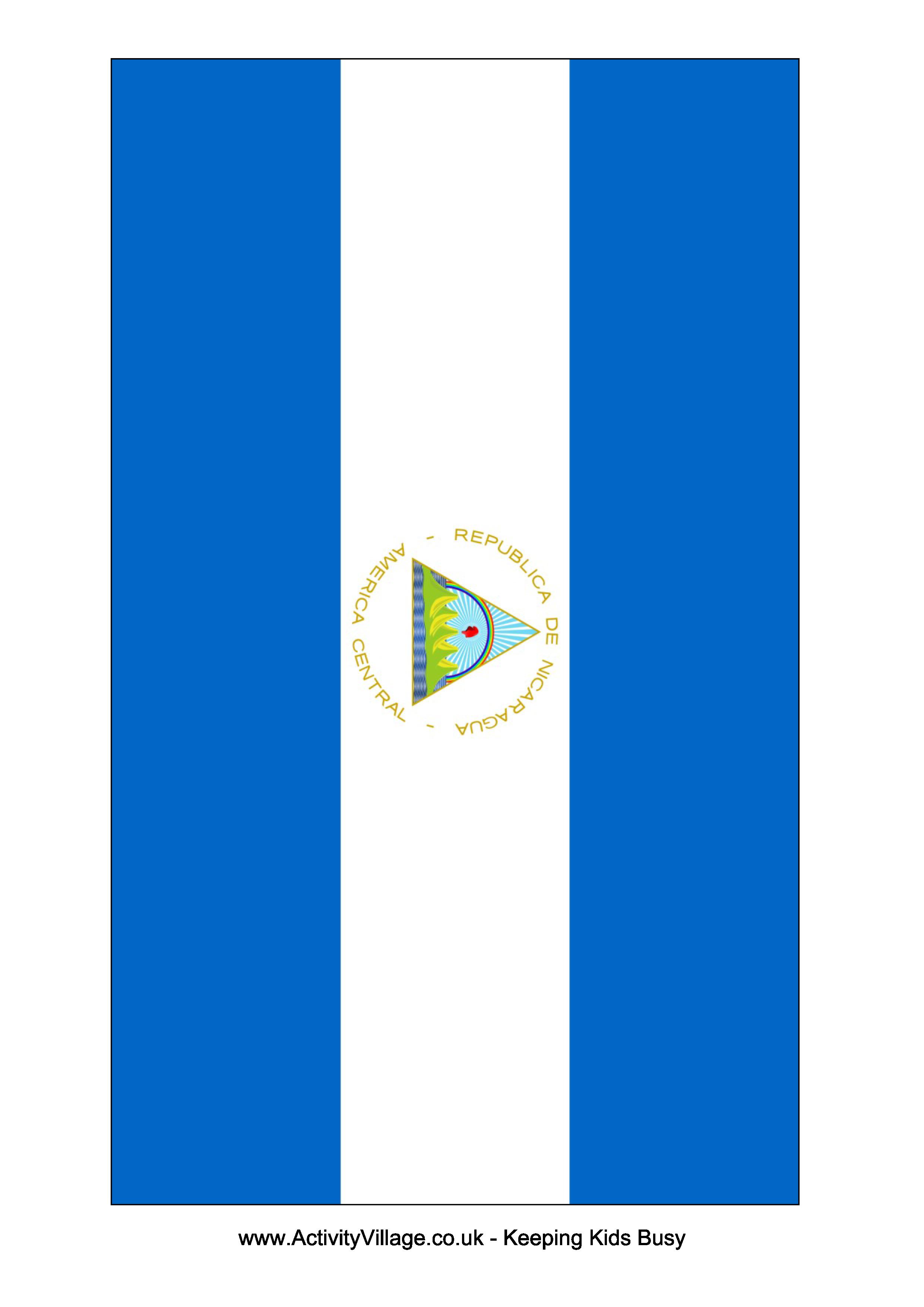Nicaragua Flag Download This Free Printable Nicaragua Template A4 Flag A5 Flag 8 And 21 Flags On One A4page Ea Nicaragua Flag Flag Template Flag Printable
