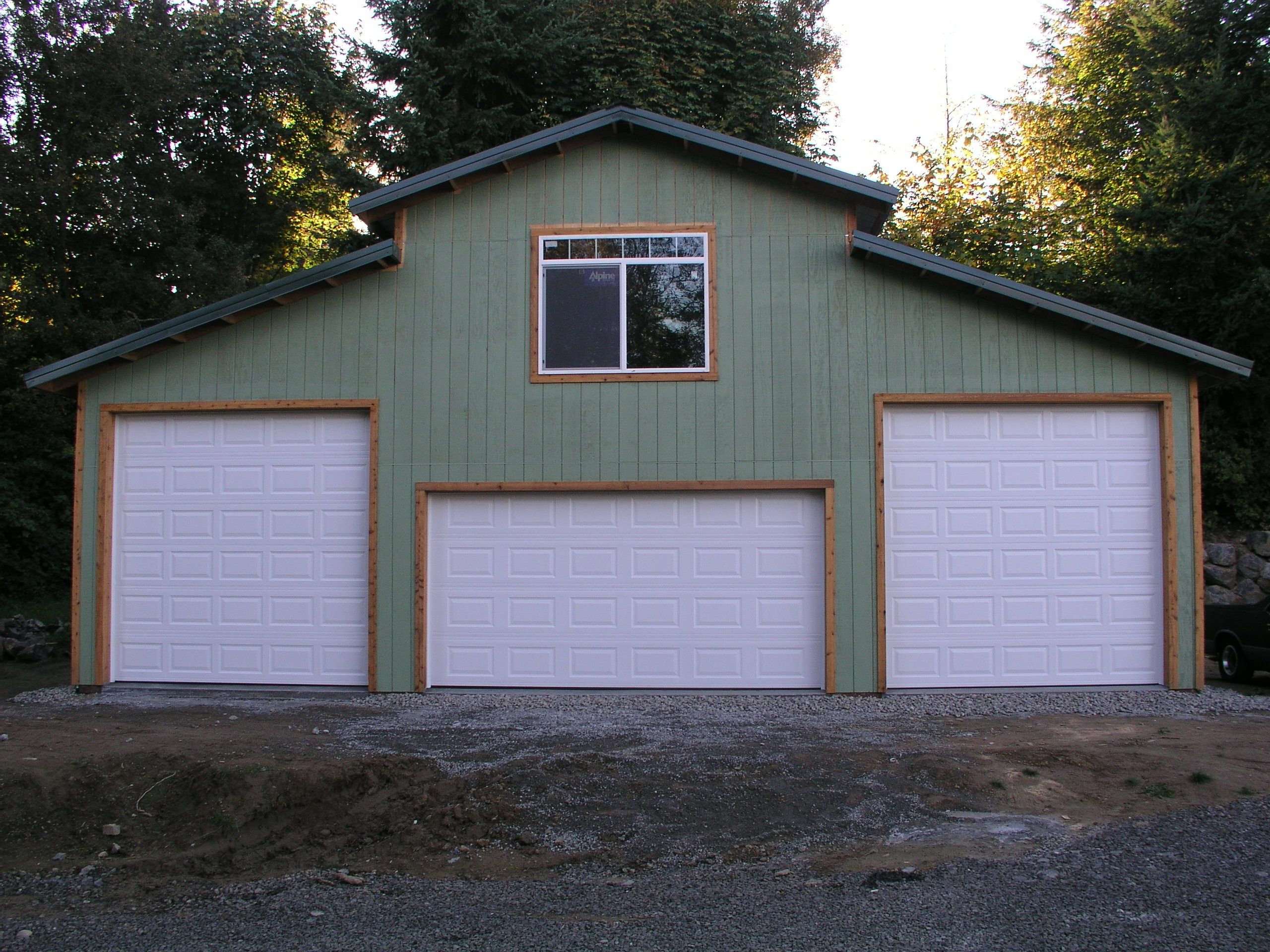 Welcome to ark custom buildings inc marysville wa garages for Pole barn garage designs