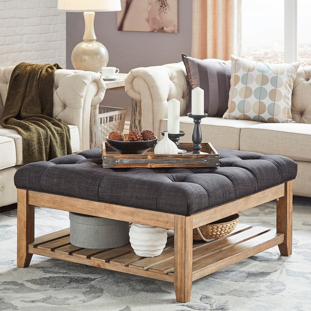 Homevance Tufted Upholstered Coffee Table Upholstered Coffee Tables Coffee Table Tufted Cocktail Table [ 1024 x 1024 Pixel ]