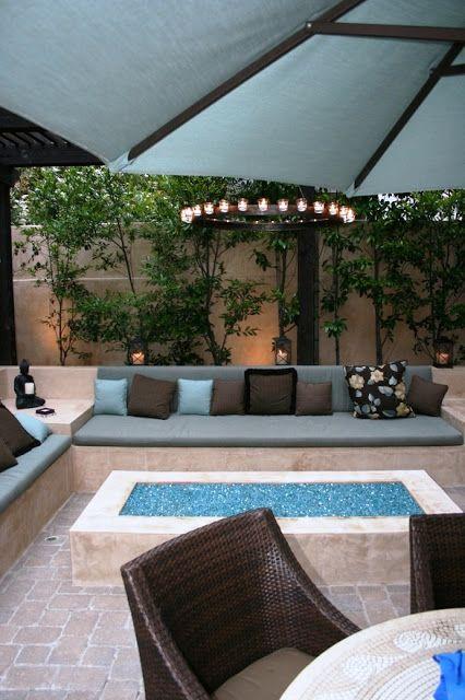 a backyard fire pit | house ideas | Deco exterieur maison ...