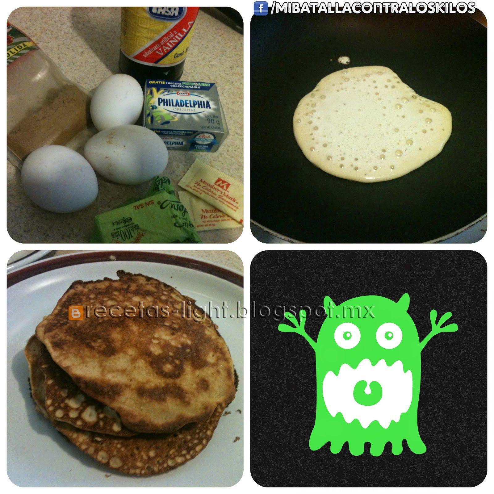 Recetas Bajas en Carbohidratos: Low Carb Pancakes de Queso Crema
