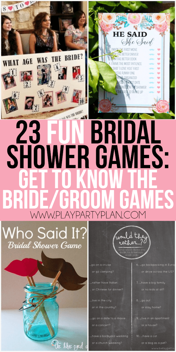 23 more funny bridal shower games that dont suck including everything from games for couples interactive games for large groups and even a bunch of free