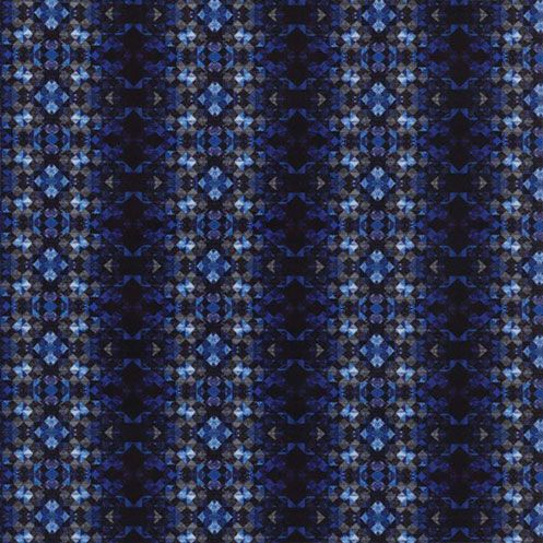 Blue geometric fabric design of Matthew Williamson, Ethnic Chic - Home Couture - Online Shop - Worldwide Shipping
