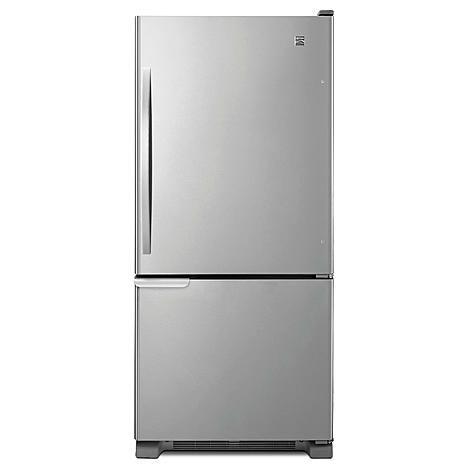 Kenmore 69313 19 Cu Ft Bottom Freezer Refrigerator Stainless Steel 749 99 Generally Good Reviews Bottom Freezer Refrigerator Bottom Freezer Refrigerator
