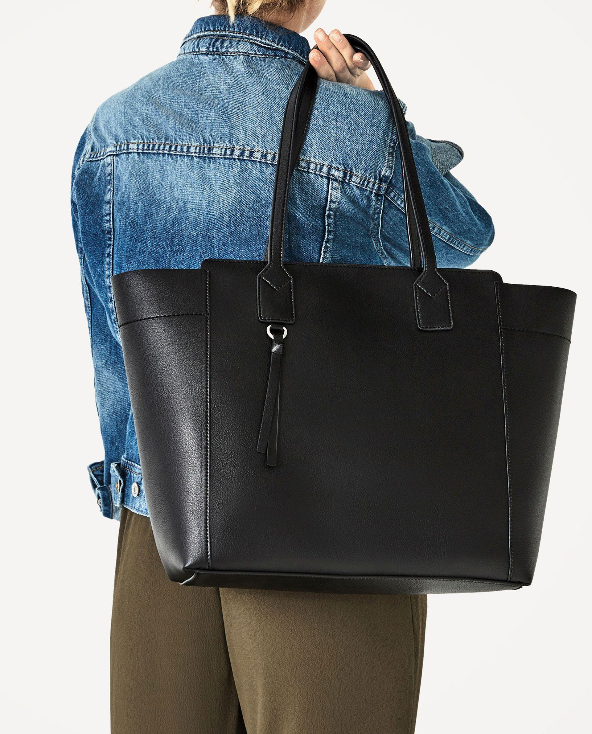 5fa79a49a Image 1 of ZIP-UP TOTE from Zara | estilo | Zara tote bags, Zara ...