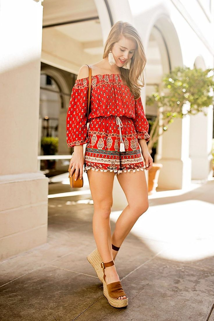 919319119c We are loving lonestar southern's festive Pom Pom Romper! Check it out