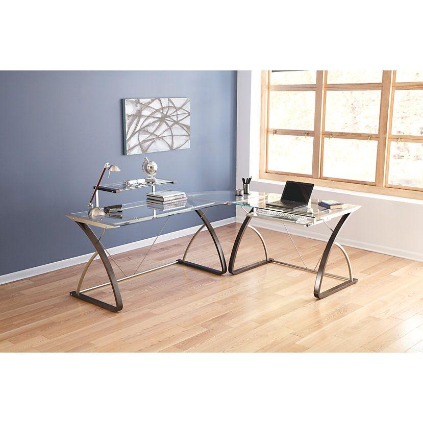 Realspace Merido Main Desk 36 H X 55 W X 28 35 D Espressosilver By Office Depot Officemax Furniture Office Furniture Home Decor