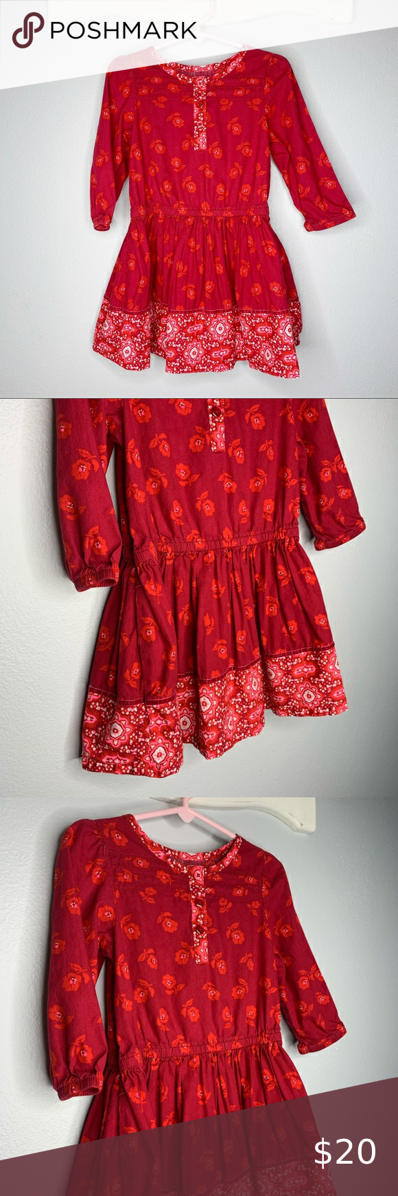 Toddler Girls Shine Plaid Long Sleeve Dress Art Class Maroon 4t Red Clothes Long Sleeve Dress Toddler Girl Outfits [ 1000 x 1000 Pixel ]