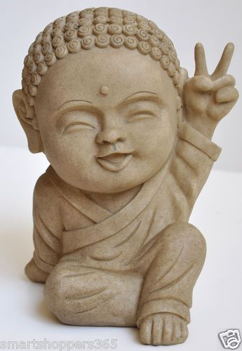 Details About Adorable Smiling Baby Buddha Peace Victory