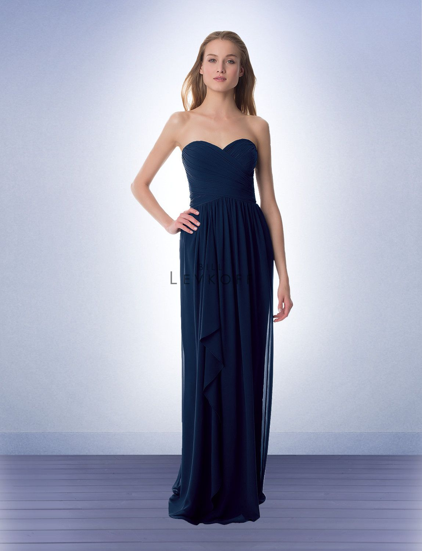 40047a4a42b51 Bill Levkoff 980 Dress Chiffon Draped Floor-Length Overskirt   Bill ...