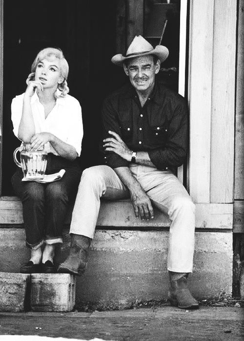 "Marilyn Monroe and Clark Gable ""The Misfits"""