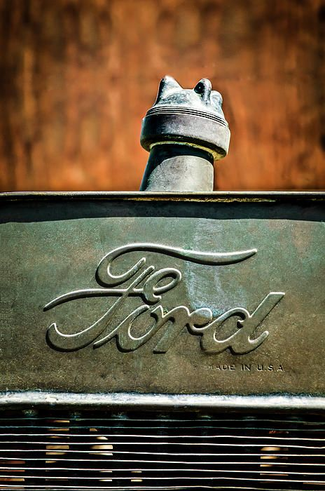 1912 Ford Hood Ornament - Car Images by Jill Reger