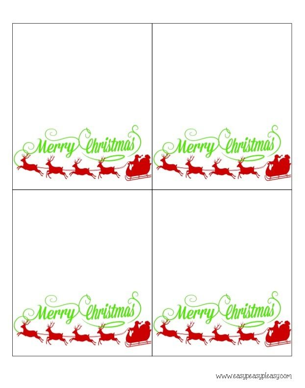Free printable christmas gift bag tags