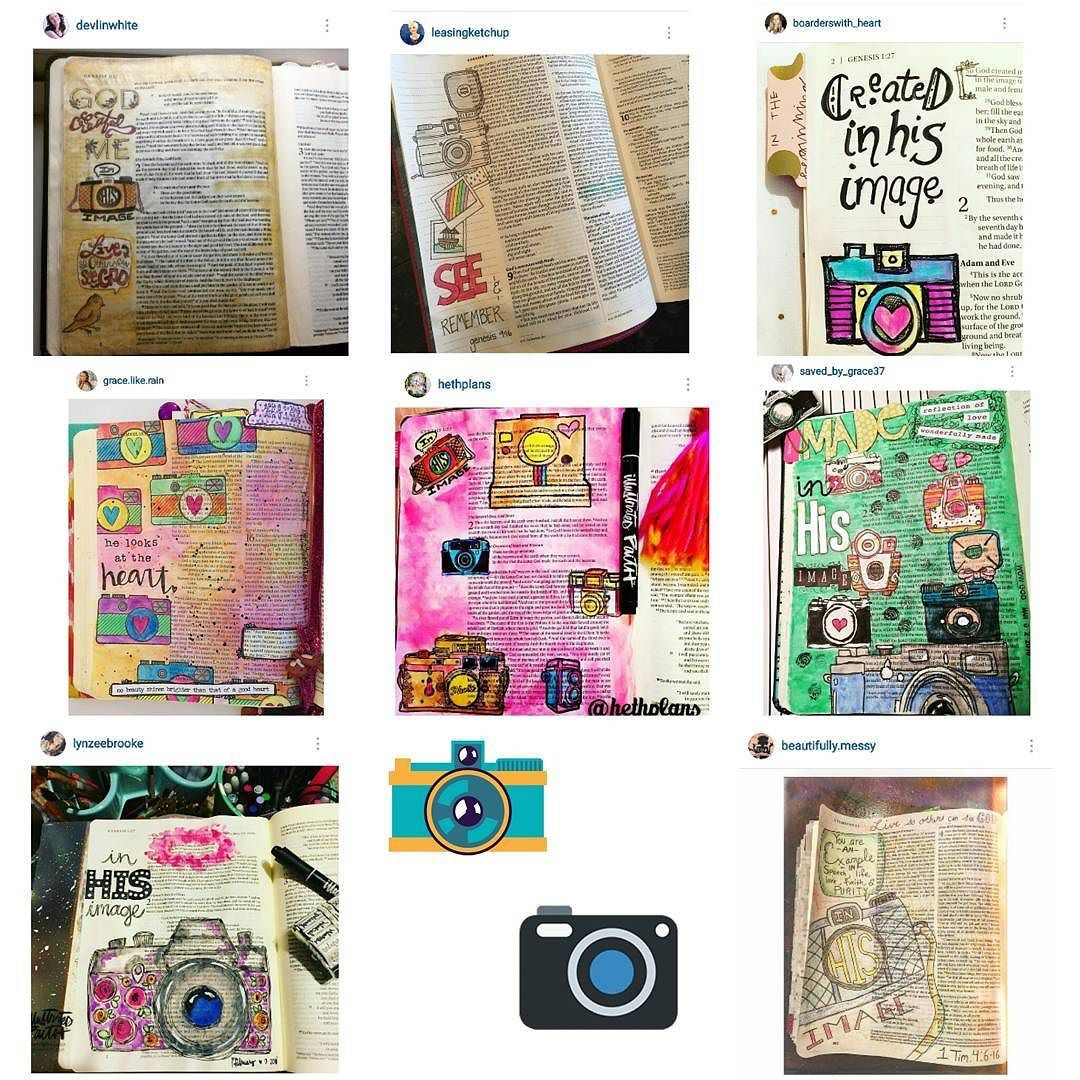 #followfriday #biblejournaling #biblejournalingcommunity #bibleartjournaling #vintagecamera .. Check out these awesome camera inspired Bible pages! .. @devlinwhite @grace.like.rain @lynzeebrooke @hethplans @leasingketchup @boarderswith_heart @saved_by_grace37 @beautifully.messy by brandi.vandys.bible