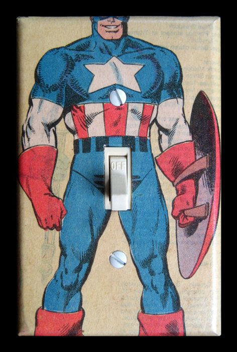 Captain america light switch plate via etsy | so funny