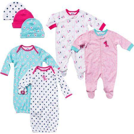 Gerber Newborn Baby Girl 7-Piece Day & Night Gift Set 0-3M, Size: 0 - 3 Months, Blue