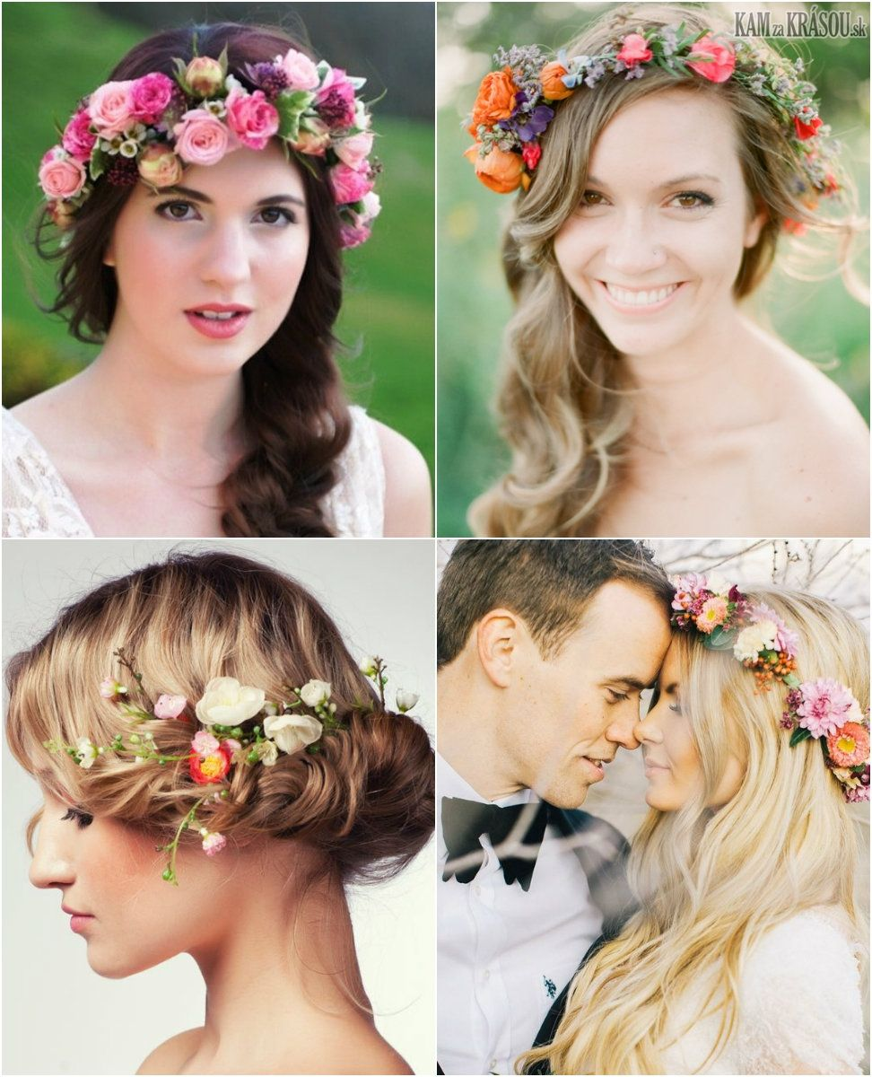 56b5f4cb9 Svadobné účesy so živými kvetmi vo vlasoch | Svadobné účesy ...