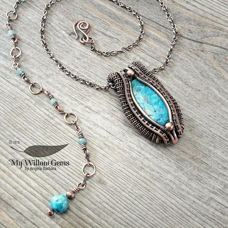 Copper Wire Wrapped Blue Crazy Lace Agate - Iambe, Greek Goddess of ...