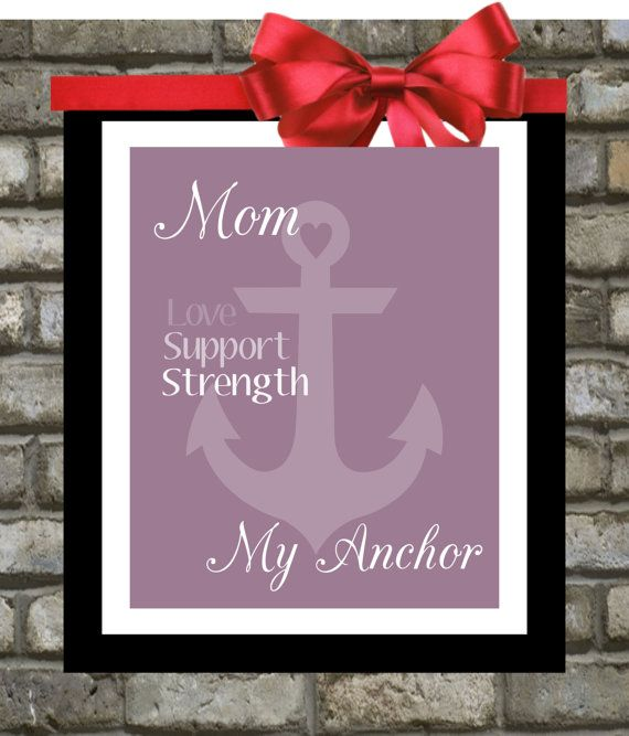Repost Personalized Mothers Day Gift Custom Anchor Art Print Gifts Under 20 For Mom Choose Colors From Daughter To Mum Mommy