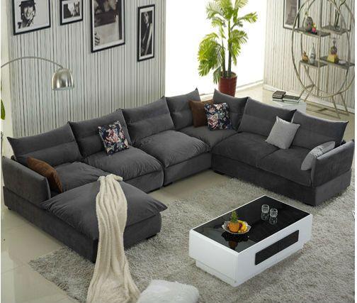 4 Piece Gray Color Modern Sofa Set Sofa Bed Design Living Room Sofa Set Living Room Design Modern