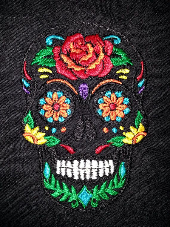 Sugar Skull Embroidery Design By Embroiderydesignsbrn On Etsy