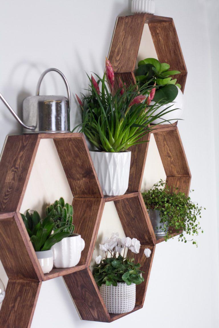 DIY Möbel – Wabenregal ganz leicht selbermachen! #diymöbel