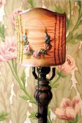 Victorian Antique Style French Light Screen For Lamp Vintage Ribbon Rose Design Diy Lamp Shade Lamp Shade Creative Lamp Shades