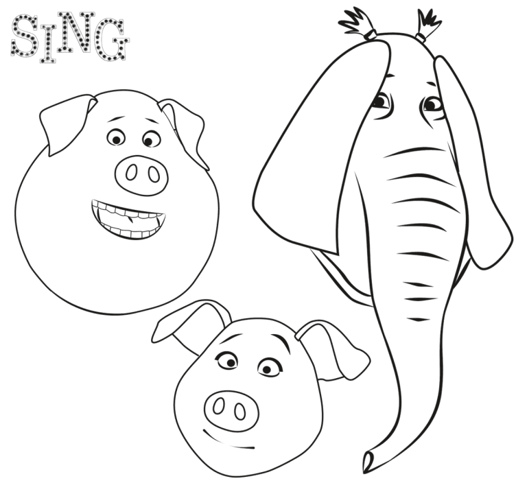 Sing Coloring Pages Best Coloring Pages For Kids Coloring Pages For Kids Bear Coloring Pages Coloring Pages