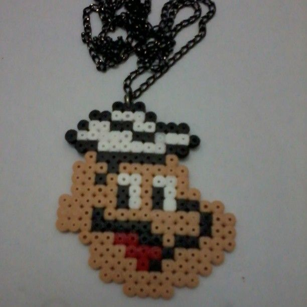 Popeye hama perler bead necklace by ditaksaras