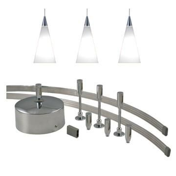 Jesco Lighting MK-3P210WH Monorail-Complete Monorail Kit