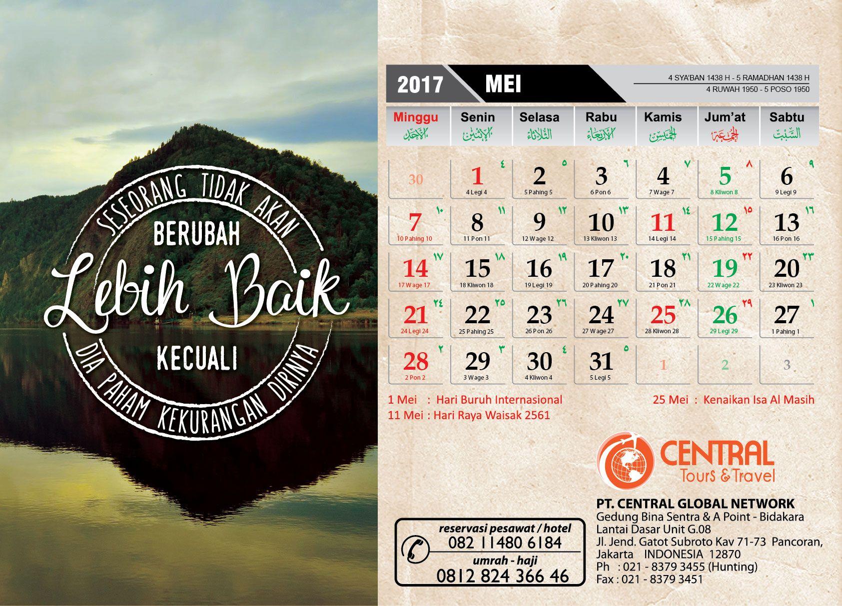 Quotes May Kalender 2017 Minggu
