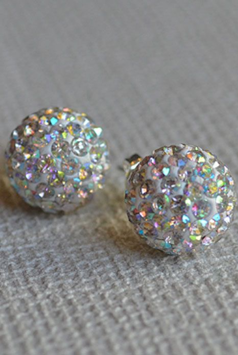 Crystal Ball Multi Earrings   Available at www.aneva.com.au $15  Free shipping Australia wide.  10mm in diameter.